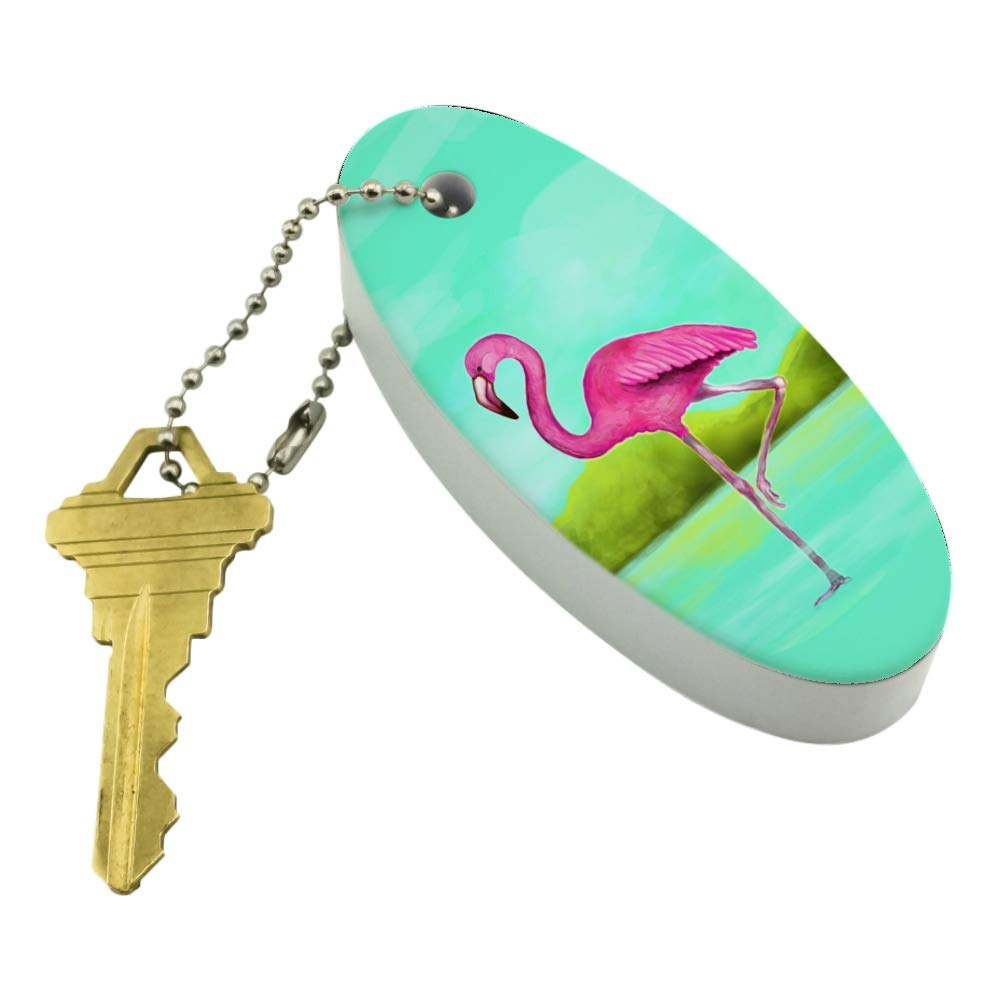 Graphics and More Pink Flamingo in Water Floating Foam Keychain Fishing Boat Buoy Key Float