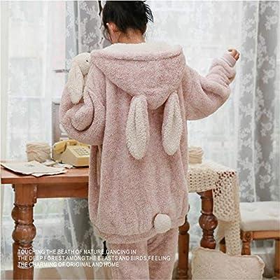 Bayrick Pijama de Oreja de Conejo para Mujer chándal de Felpa de ...