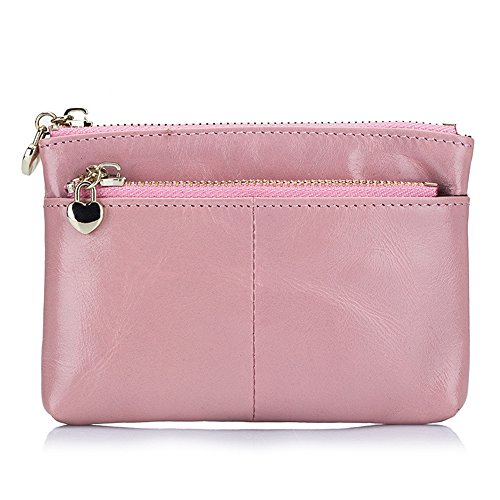 Price comparison product image Women Coin Purse Zip Leather Fashion Handbag Lady Wallet Card Holder Pink