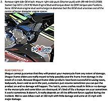 Shogun Kawasaki Ninja ZX6R ZX-6R ZX 636 2019 2020 NO Cut PA2 Black Frame Sliders Fits ABS /& NON ABS Models Made in the USA 715-4459