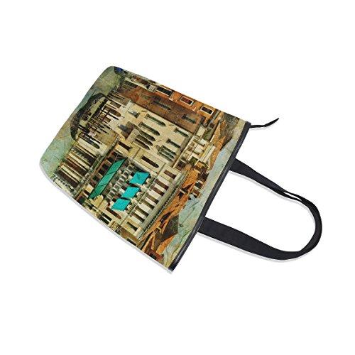 Bag MyDaily Italy Vintage Canvas Tote Handbag Shoulder Womens Venice wUUpxq