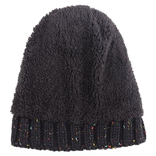 Women-Winter-Pom-Pom-Beanie-Hat-with-Warm-Fleece-Lined-Thick-Slouchy-Snow-Knie-Skull-Ski-Cap-by-REDESS
