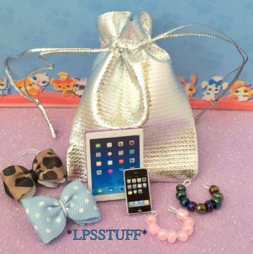 Littlest Pet Shop Accessories Tablet Phone Necklaces Bows LPS CAT NOT (Lps Party Supplies)