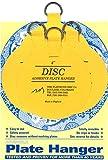 Flatirons Disc Adhesive Large Plate Hanger Set (4-4 Inch Hangers)