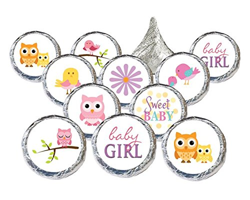 Lifesaver Baby Shower Favors (Sweet Baby Girl Owl and Tweet Collection - 324 Stickers for Baby Shower)