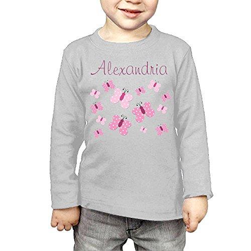 ZheuO Boys & Girls Toddler Pink Butterflies Soft 100% Cotton Tee Unisex Gray 2 - Dress Price Butterfly Monarch