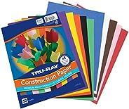 "Tru-Ray Construction Paper, 10 Classic Colors, 9"" x 12"","
