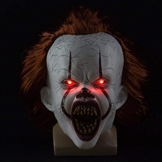 Halloween Scary Clowns Props 2020 Amazon.com: whc0815 2020 Clown Mask Pennywise LED Mask Cosplay