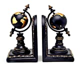 Bellaa 28700 Globe Bookends Armillary Books Holder Vintage Style Deal (Small Image)