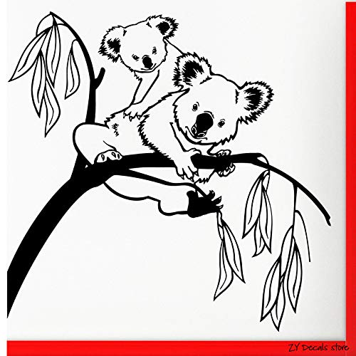zqyjhkou Árbol Tatuajes de Pared Lindo Koala Etiqueta de la Pared ...