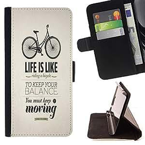 King Art - Premium-PU-Leder-Prima caja de la PU billetera de cuero con ranuras para tarjetas, efectivo Compartimiento desmontable y correa para la mu?eca FOR Samsung Galaxy S4 IV I9500 i9508 i959- Bicycle Retro