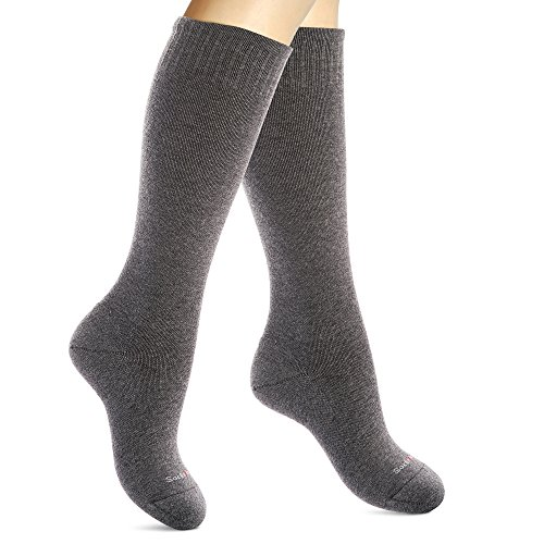 SocksLane Cotton Compression Socks Women. Support Stockings. Knee-High, 1 pair