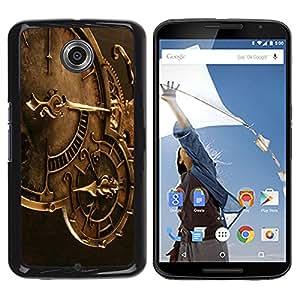 Qstar Arte & diseño plástico duro Fundas Cover Cubre Hard Case Cover para Motorola NEXUS 6 / X / Moto X Pro ( Clock Time Machine Mechanics Watch Technology)
