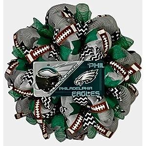 Philadelphia Eagles Football Sports Wreath Handmade Deco Mesh 43