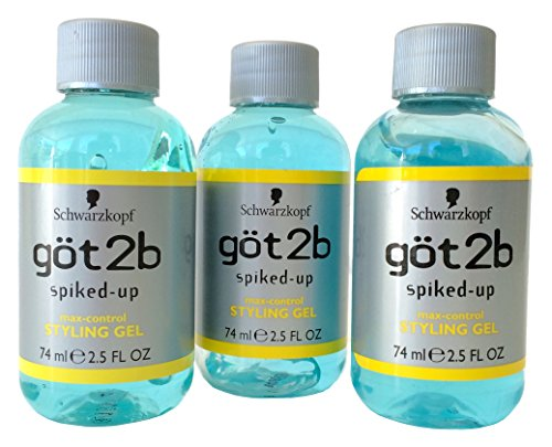 Got2B Spiked-Up Max-Control Styling Gel, 2.5 Ounce (Pack of (Blue Spike Hair Gel)