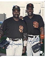 * TONY GWYNN / JOE CARTER * San Diego Padres signed 8x10 photo COA / Registered Dealer UACC