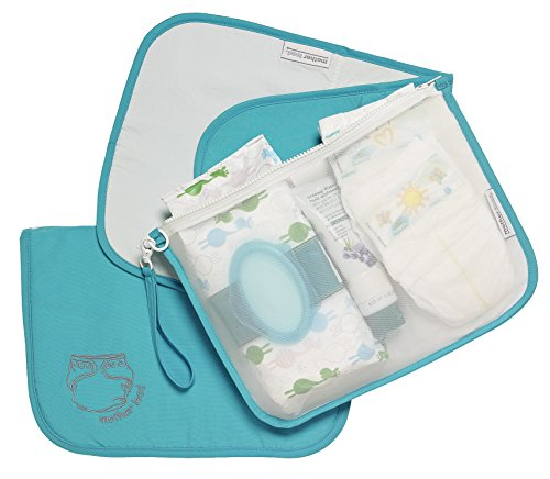 MOTHER LOAD Turquoise Diaper Bag Organizer for Diapers, Wipes and Cream, Machine Washable, Diaper Organizer with Changing Pad & Wrist-let. A Mommy Must Have for all Babies Needs (Diaper Bag Wristlet)