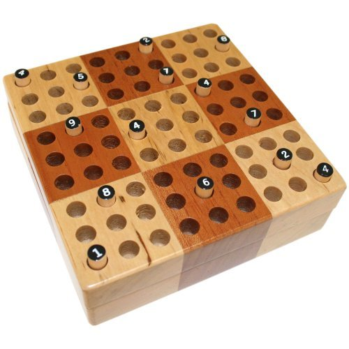 Elbert Mini Wooden Travel Sudoku Board Game Set with Wood Peg Pieces – 5 Inch by Best Chess Set