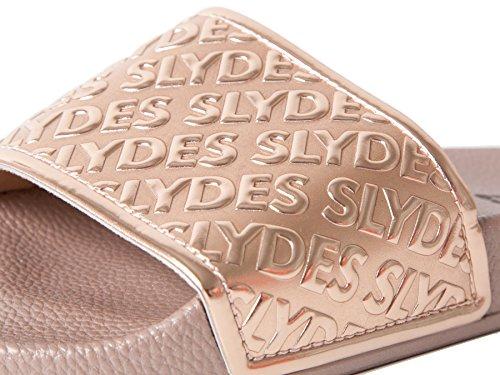Slydes Chance Rose Gold Sandales Slider Femme