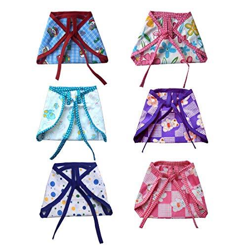 Srim SMC2018 Reusable Cotton Nappy Double Layer Langot Cotton Cloth, Multicolor