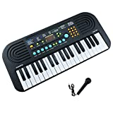 Kids Piano,Sanmersen 37 Keys Multi-function Portable Electronic Piano Keyboard Children Toddler Educational Toy with Microphones