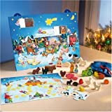 HABA Children's toy Holiday Christmas on the Farm Advent Calendar and Puzzle made in Germany