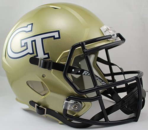 NCAA Georgia Tech Full Size Speed Replica Helmet, White, Medium