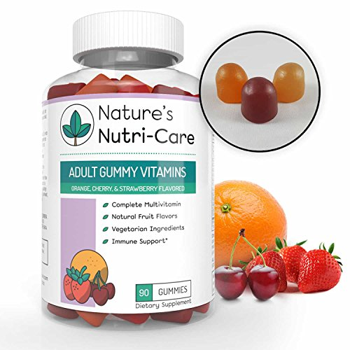 Nature's Nutri-Care Adult Gummy Vitamins - 90 Gummies - Vegetarian Gummy Multivitamin - Essential Vitamins, Antioxidants, and Minerals - Made in - Vitamins Nutri Chewable