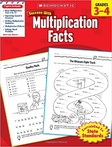 Amazon.com: Scholastic Success with Multiplication Facts, Grades 3 ...