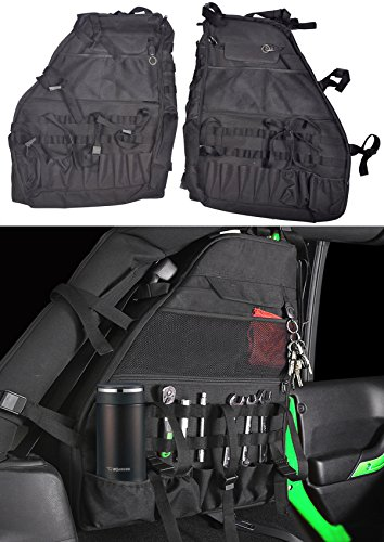 Multi-Pockets Storage & Organizers & Cargo Bag Saddlebag & Tool Kits Bottle Drink Phone Tissue Gadget Holder for 2007~2018 Jeep Wrangler JK (Saddlebag Tool Kit)