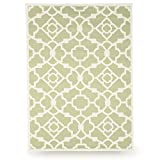 Budge Monaco Outdoor Patio Rug, RUG810SG1 (8' Long x 10' Wide, Sage Green)