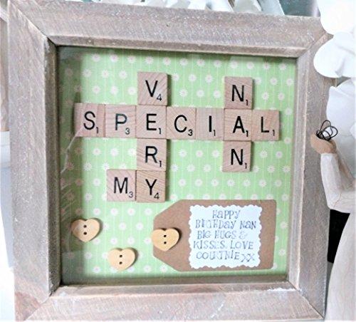 A Personalized Scrabble Tile Art My Very Special Nanny / Nana / Nan Gift....