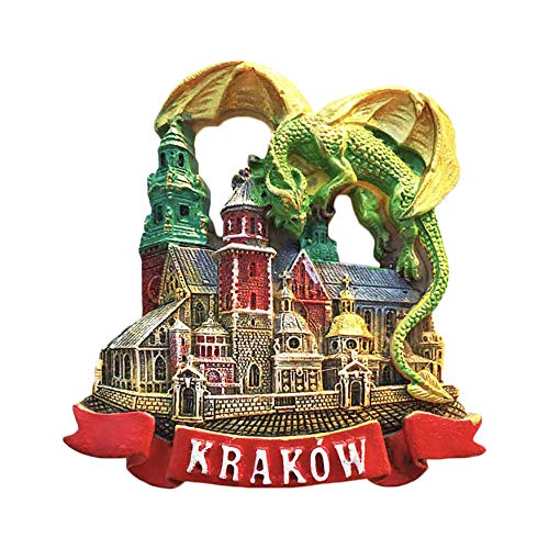Krakow Poland 3D Green Dragon Refrigerator Magnet Tourist Souvenirs Stickers,Home & Kitchen Decoration Poland Fridge Magnet From China
