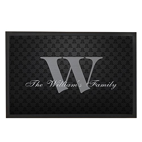 Black Family Doormat Gifts Welcome Outdoor Mats Custom Front Door Mat 31.5x19.7
