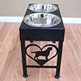 Labrador Retriever Raised Dog Feeder Stand