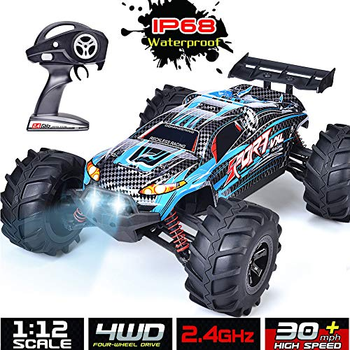 INGQU RC Car 1:12 Scale Remote Control Car High Speed 4x4 RC Truck IP68 Waterproof Remote Control Truck RTR All Terrain Off Road Monster Hobby Car for Kids and Adults