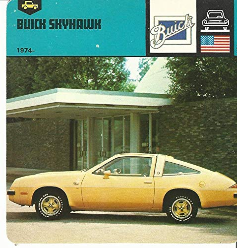 Buick Skyhawk Car - 1978 Edito-Service, Automobile Rally Card, 19.08 Buick Skyhawk Car