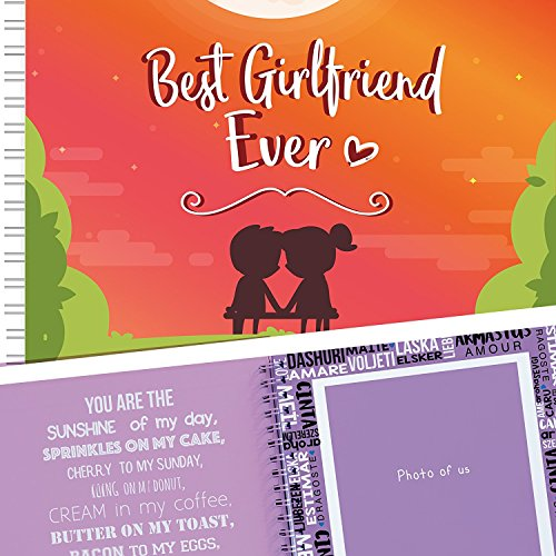 Best Girlfriend Ever Memory Book - The Best Romantic Gift Ideas For Your Girlfriend! Your GF Will Love This Cute Present For Her Birthday, Valentine's Day, Christmas Or A Special - Date Ideas Day Good Valentines