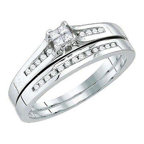 0.30CTW DIAMOND INVISIBLE BRIDAL SET (Diamond Set Bridal Invisible)