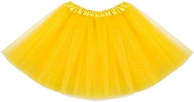 Yying Minifalda Chicas Falda Tutú - Faldas Tul Vestir Ballet ...