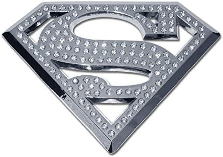 Elektroplate Superman METAL Auto Emblem with Crystals