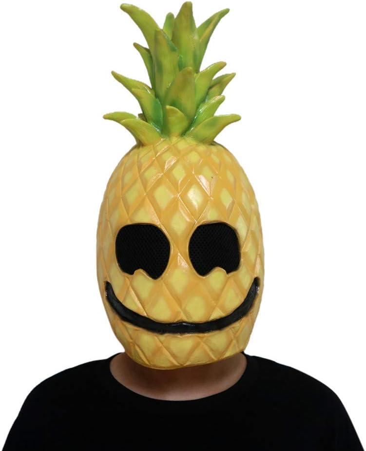 Máscara de piña de látex, para Disfraz de Cabeza de Fruta, para ...