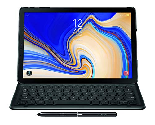 Samsung Electronics EJ-FT830UBEGUJ Galaxy Tab S4 Book Cover Keyboard, Black (Renewed)