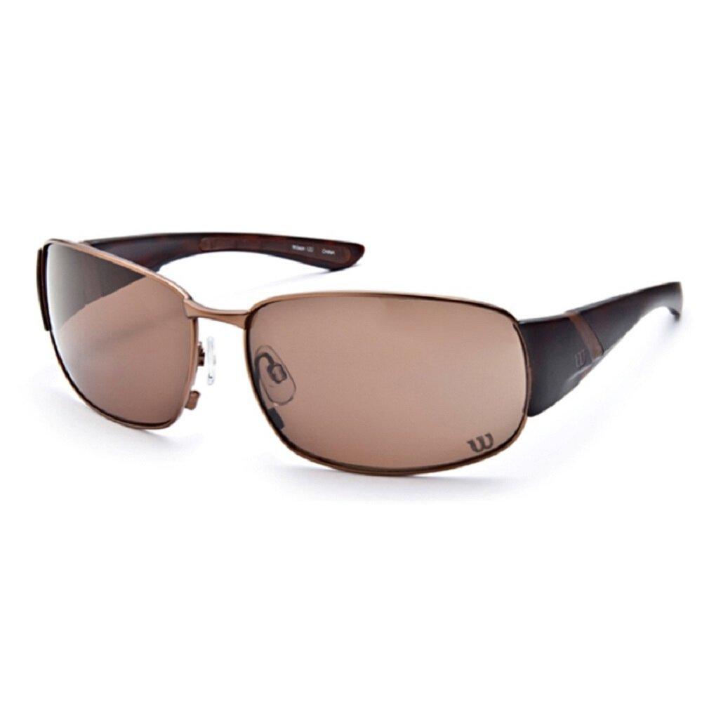 Amazon.com: Wilson 1025 Sunglasses Gunmetal Frame Brown ...