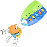 ViaGasaFamido Early Education Toy, Simulation Remote Control Car Key Music Toy Educational Toy for Children(Blue)