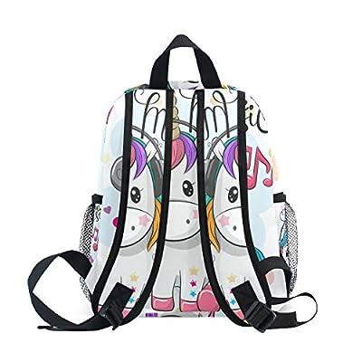 Cute Baby Rainbow Unicorn Preschool Bag Kids Backpack for Toddler Boy Girls   Kids' Backpacks