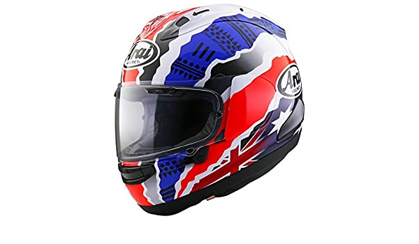 Amazon.com: Arai Corsair X Doohan Star 2 Black/Red/Blue Full Face Helmet - Small: Automotive