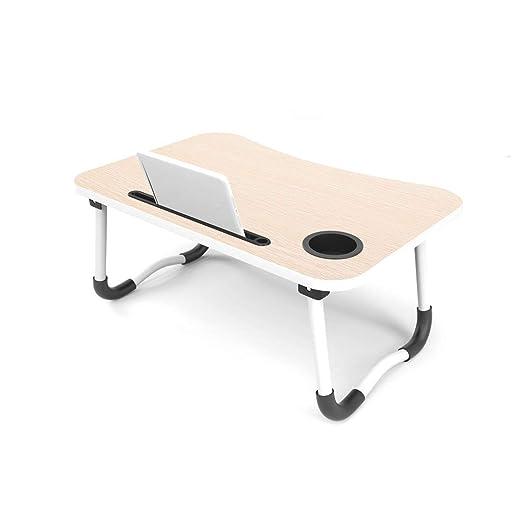 FU LIAN Mesa Plegable para computadora portátil, portavasos + ...