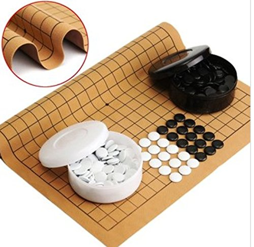 New!! 361PCS Weiqi Professional Go Game Suede Leather Sheet Chinese Play (Suede Horizontal Carry Case)