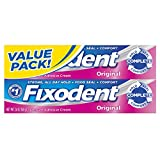Fixodent Complete Original Denture Adhesive Cream Twin Pack 2.4 Oz each